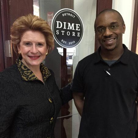 U.S. Senator Debbie Stabenow visits Dime Store