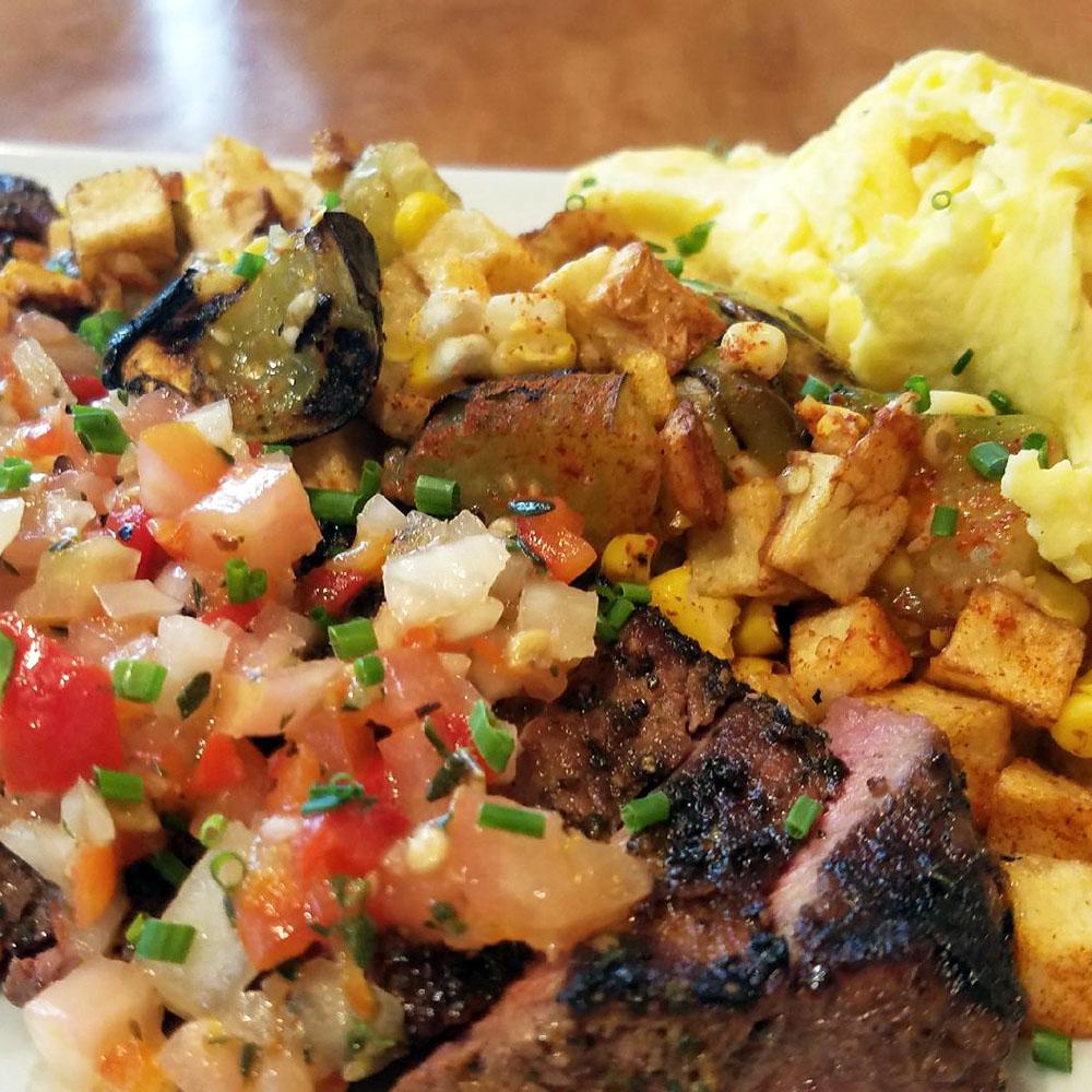 Dime Store's Churrasco Steak and Eggs