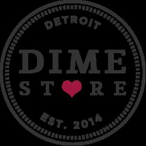 Dime Store Detroit Brunch Restaurant Logo with Heart