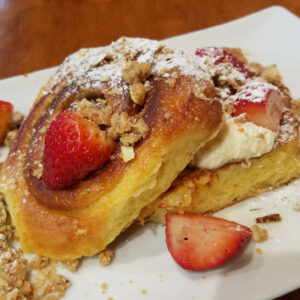 Dime Store's Cinnamon Roll French Toast