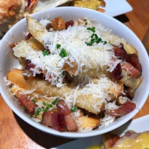 Bacon, Parm and Truffle Fries at Dime Store Detroit Brunch Restaurant