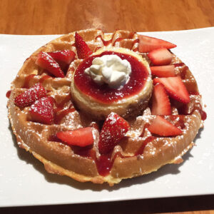 Dime Store's Strawberry Cheesecake Waffle