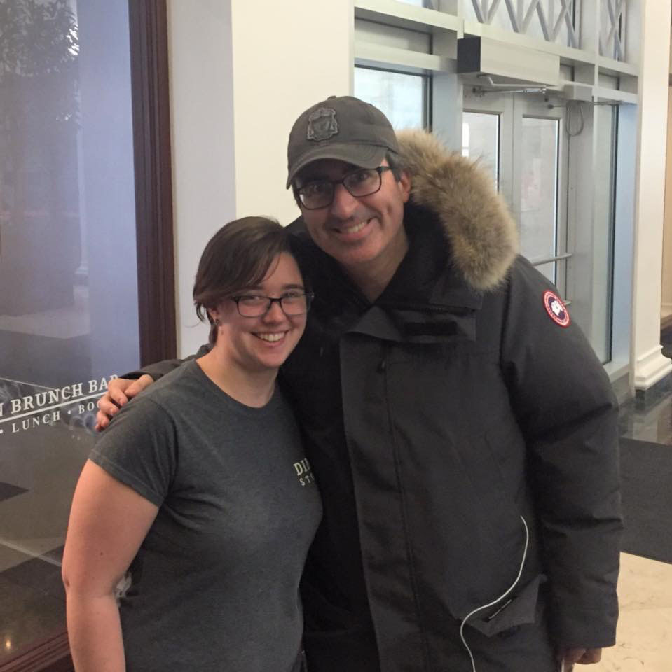 John Oliver Stops by Dime Store