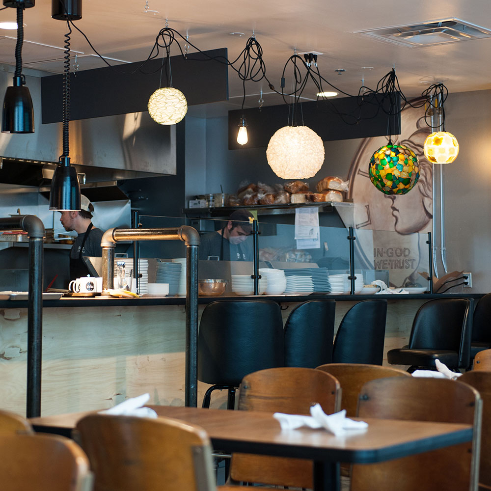 Dime Store Detroit Brunch Restaurant Open Kitchen Line