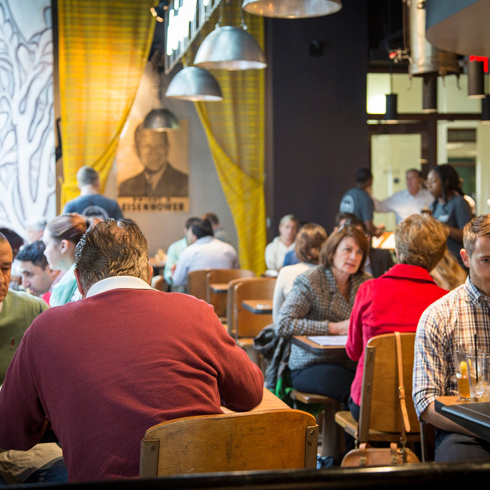 Dime Store Detroit Brunch Restaurant Interior at Lunchtime