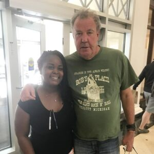 English Broadcaster Jeremy Clarkson Eats at Dime Store