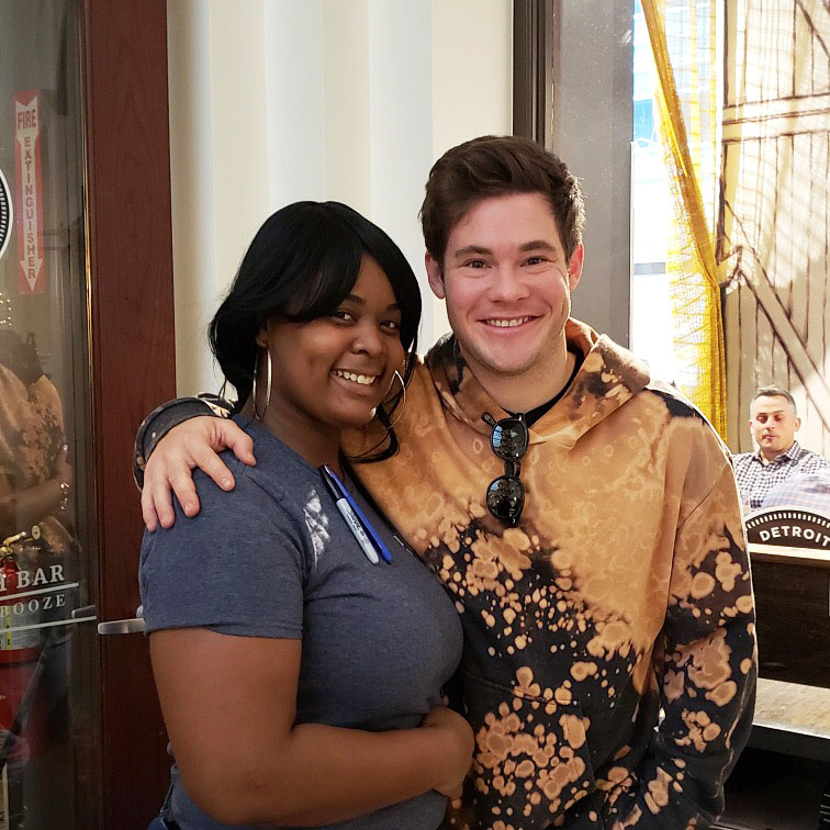 Actor Adam Devine Dines at Dime Store Detroit Brunch Restaurant