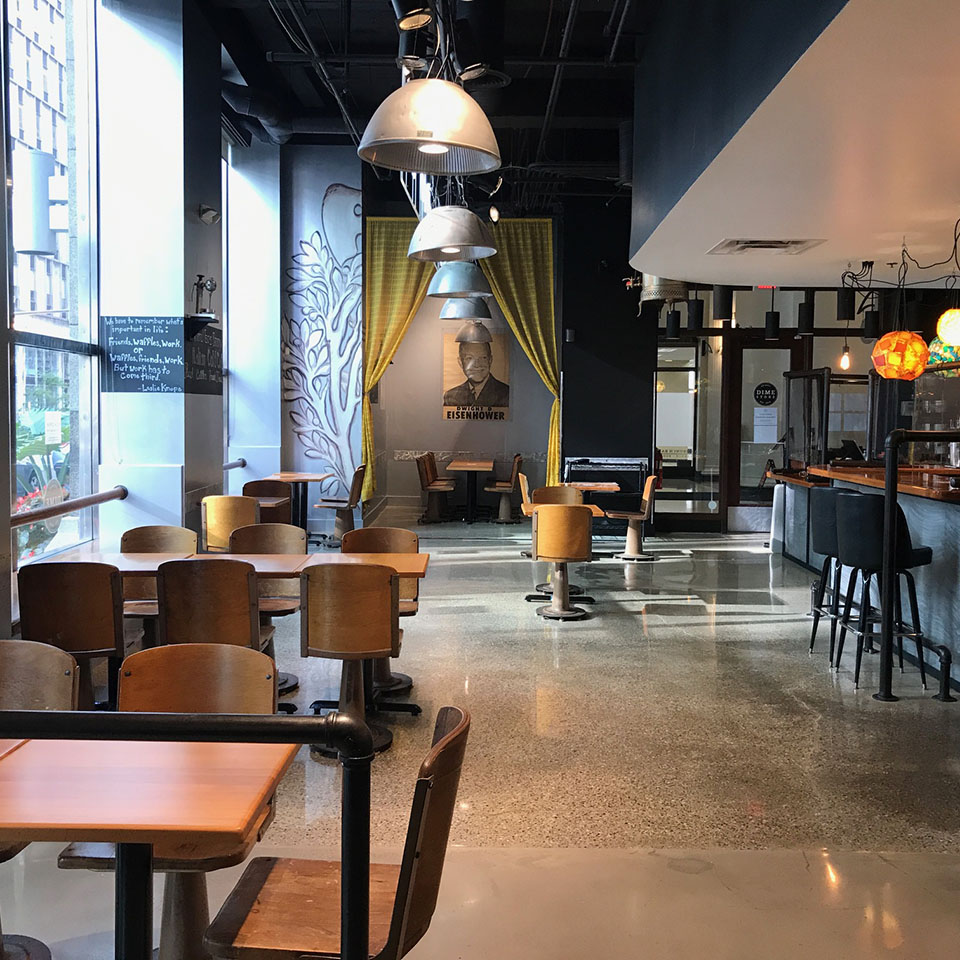 Interior Nook at Dime Store Detroit Brunch Restaurant