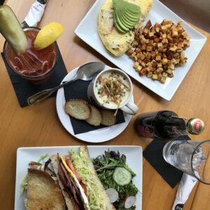 BLTE and Bacon Avocado Omelette at Dime Store Detroit Brunch Restaurant